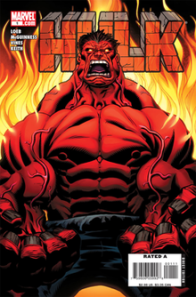 "Because, come on! You don't ***** with Red Hulk. (Oh, try to guess what swear Five Asterisks means. Okay, I'll give you a hint: It's totally a Lemur. That's my new swear. I have no idea what Lemur is, in that context at least...I mean, I know what ""a"" Lemur is. It's a cute little monchichi-looking simian. Nah, in the end, I just want to get that word banned from network television.)"